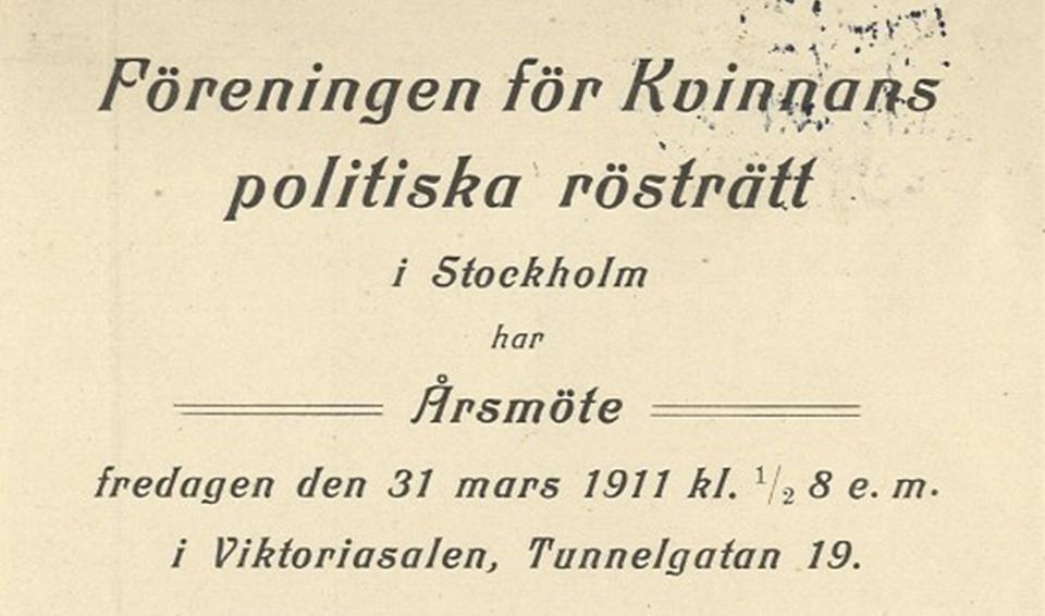 Informationsblad om årsmöte.