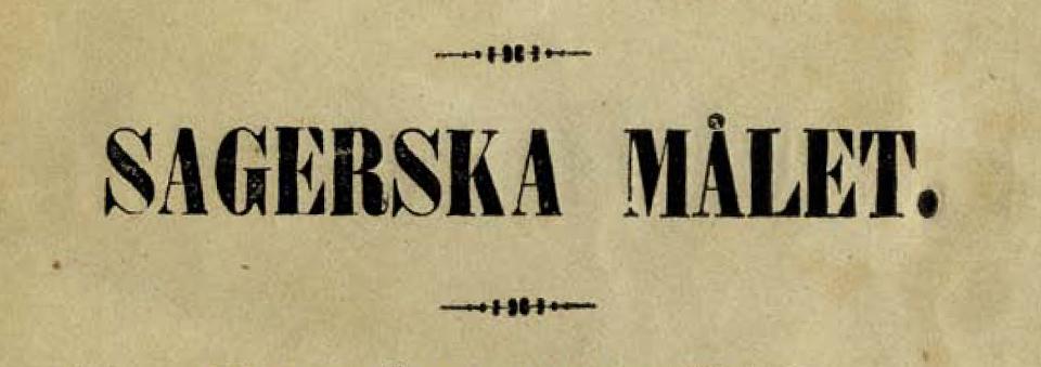 Sagerska målet titel från 1848