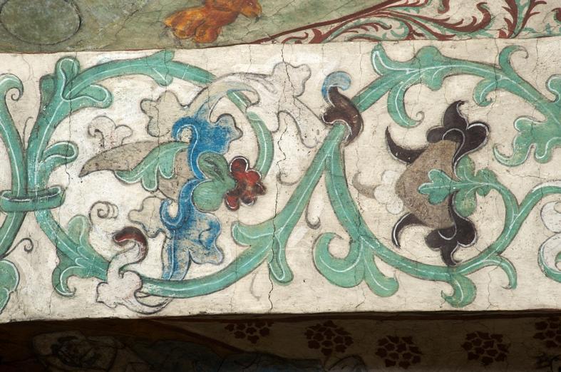 målning på kyrkvägg